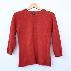 EUC GAP 3/4 Length Sleeve Stretchy Red Sweater - M